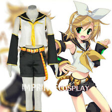 Vocaloid Kagamine Rin Cosplay Costume Anime Full Set FREE P&P