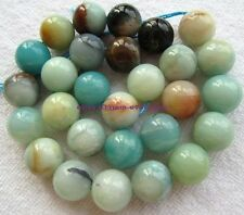 """4,6,8,10,12,14mm Natural Multicolor Amazonite Round loose beads 15"""""""