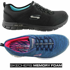 SKECHERS GLIDER ELECTRICITY WOMENS COMFY CASUAL/SNEAKERS SLIPON ELASTIC SHOES