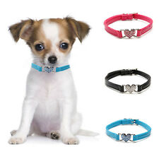 PU Leather Bling Crystal Rhinestone Pet Cat Dog Diamond Collar Puppy