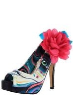 IRON FIST SHIP WRECKER WOMEN TURQUOISE PLATFORMS US SIZE