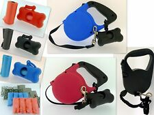 Urban Living Pet Dog Retractable Lead Poop Bag Dispenser