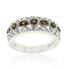 Sterling Silver 1/10ct TDW Champagne Diamond Band Ring