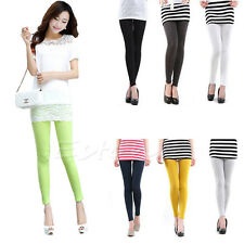 Candy Color Women Skinny Slim Stretch High Waist Pencil Pants Leggings Trousers