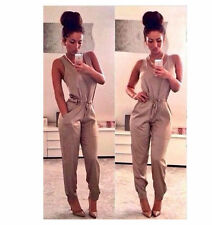 NEWST Sexy Women Sleeveless Jumpsuits Bodycon Legging Long Pant Rompers Bodycon