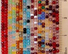 100 Czech Glass Assorted 5x4mm Fire Polished Faceted Rondelle Disc Beads U Pick