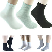 Summer 10 Pairs Men Unisex Adults Cosy Cotton Sport Socks Black / White / Gray