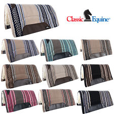 SADDLE PAD CLASSIC EQUINE SENSORFLEX NEW ZEALAND WOOL FELT PADDED HORSE BLANKET