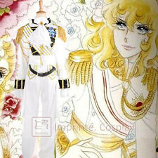 The Rose of Versailles Lady Oscar White Military Uniform Cosplay Costume FREE PP