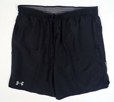 Under Armour Moisture Wicking Black Brief Lined Running Athletic Shorts Mens NWT