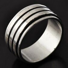 Active Men's Stainless Steel Band Ring Size 9#A4874