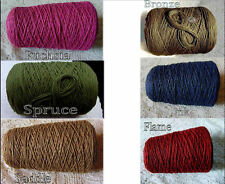 NEW *6 Color Choice*  Soft 3 Ply 100% Cotton Cone Yarn Knit Crochet Weave