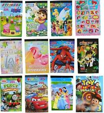 NEW STICKERS BOOK SPIDERMAN CARS DORA PRINCESS FROZEN PARTY ALPHABET KIDS TOYS C