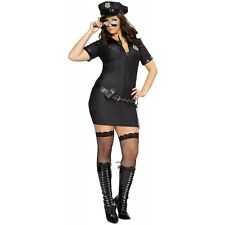 Penal Code Penny Sexy Cop Police Officer Woman Halloween Costume Std/Plus Sizes