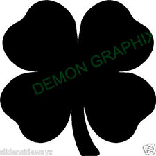 Shamrock vinyl decal/sticker flower 4 leaf clover lucky Irish good luck charm