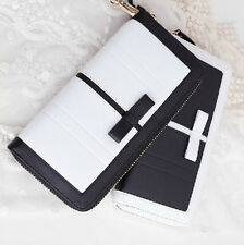 2015 New fashion lady women genuine leather purse wallet phone card zip handbag