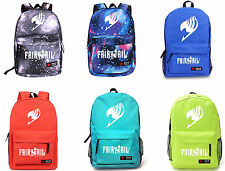 New Hot Fairy Tail 6 Colors Canvas Leisure Backpack Cosplay Party School Bag