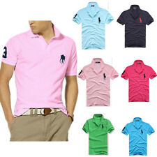 New Brand Men's Slim Sports Short sleeve Casual Polo Shirt T-shirts Tee Tops