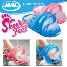 SHOWER FEET FOOT BRUSH SCRUBBER MASSAGER CLEANER SPA BATH EXFOLIATING WASHER