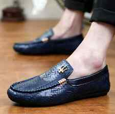 New Fashion Casual Sneakers Leather slip on Driving loafer Canvas Men's shoes