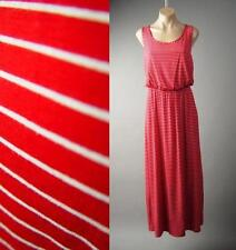 Red White Stripe Nautical Sailor Blouson Tank Long Maxi 140 mv Dress 1XL 2XL 3XL
