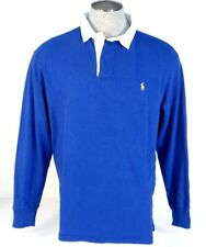 Polo Ralph Lauren Blue Classic Fit Long Sleeve Polo Shirt Yellow Pony Mens NWT