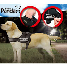 Reflective Safety Dog Harness Velcro patches Vest Padded IN TRAINING
