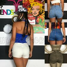 New Sexy Womens High Waist Denim Curling Jeans Slim Party Club Pants Hot Shorts