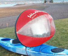 """New Design! WindPaddle 42"""" Scout Downwind Popup Canoe Kayak Sail 12 ozs-  RED"""