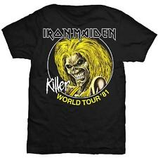 IRON MAIDEN Killers World Tour 81 T-shirt Sizes S to XXL NEW OFFICIAL Eddie