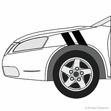 Pontiac G6 or G8 Hash Mark Stripes Grand Sport Fender Bar Decals 3M