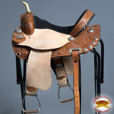 "TO104SB HILASON TREELESS WESTERN BARREL RACING TRAIL PLEASURE SADDLE 14"" 15"" 16"""