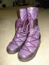 Vintage Tecnica-The Original Moon Boot Womens Purple Boots Size EUR 37 US 7