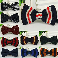 New Fashion Men Party Knitted Adjustable Bowknot Neckwear BowTie Bow Tie