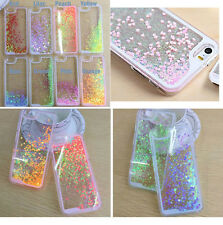 Glitter Hearts Bling Liquid Holographic Quicksand Hard Case For Verious Phones