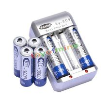 6x 3000mAh AA 1.2V Ni-MH rechargeable battery BTY for RC Toy Camera MP3+Charger