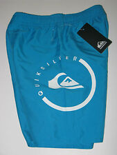 NWT Quiksilver Boys Mesh Lined Swim Trunks Shorts Turquoise Blue 4/5/6/7 Board
