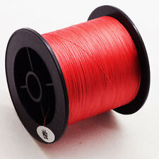 PE DYNEEMA 109YDS BRAIDED BRAID 100M 6-100LBS STRONG FISHING LINE SPECTRA RED