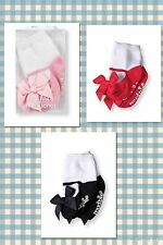 NEW MUD PIE MY FIRST MARY JANES  SOCKS PINK HOT PINK BLACK 0-12 MONTHS