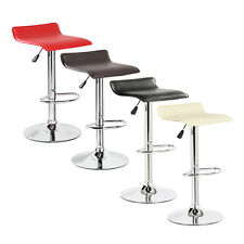 2 Modern Bar Stools PU Leather Adjustable Swivel Hydraulic Pair Chairs Counter