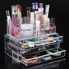 Cosmetic Organizer Makeup case Drawer Storage Jewellery Box Cube Lipstick Holder