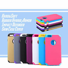 For iPhone 6 6s Hard&Soft Rubber Hybrid Armor Impact Defender Skin Case Cover
