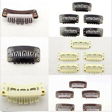10 / 20 pcs SNAP U Shape Clips For Hair Extension/Weft  Brown/Black/Beige