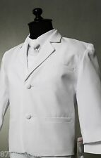 Baby toddler teen white boy communion formal suit wedding ring bearer party