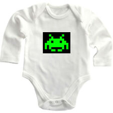 Green Video Arcade Game Figurine Long Sleeve Baby Bodysuit One Piece