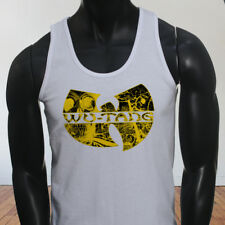 Rap Hip Hop Gza Rza ODB WU TANG CLAN COMICS Mens White Tank Top