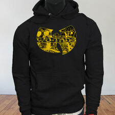Rap Hip Hop Gza Rza ODB WU TANG CLAN COMICS Mens Black Hoodie