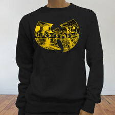 Rap Hip Hop Gza Rza ODB WU TANG CLAN COMICS Womens Black Sweatshirt