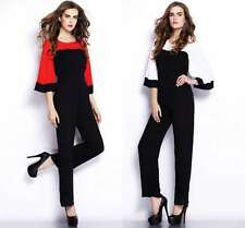 Sexy Women Batwing Empire Waist Wide Leg Pants Eve Cocktail Romper Long Jumpsuit