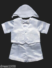 Boys Infant, Toddler Christening /Baptism Outfit, White, Cross,Sz: X-Small to 4T